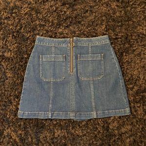Madewell Zip Denim Mini Skirt